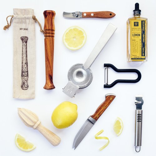 W&P Design Bartender's Knife, Viski Professional Juicer, Normann Copenhagen Peeler, and more.